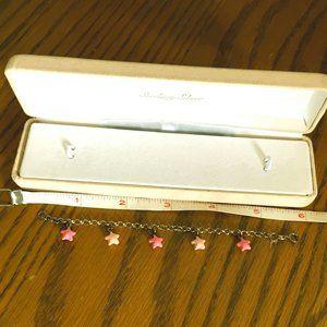 Toddler sterling silver charm bracelet